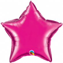 "Magenta Mini Foil Balloon (9"" Star Air-Fill) 1pc"